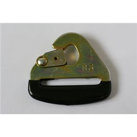 "GRAYSTON 50mm (2"") Snap hook with black plastic dipped end"