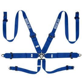 Sparco Competition Harness - 6-Point Hans 3in / 2in BLUE