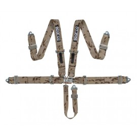Sparco 5 Point Latch & Link Oval / Autograss / Off Road Racing Harness CAMO