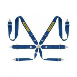 SABELT LIGHTWEIGHT SALOON 6 POINT FIA - 3 INCH BLUE