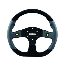 SPARCO L999 3 spokes 2 buttons 350mm flat leather/alcantara