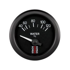 STACK 52mm Electric Gauges BLACK Water Temperature 40-120??C (1/8NPT)