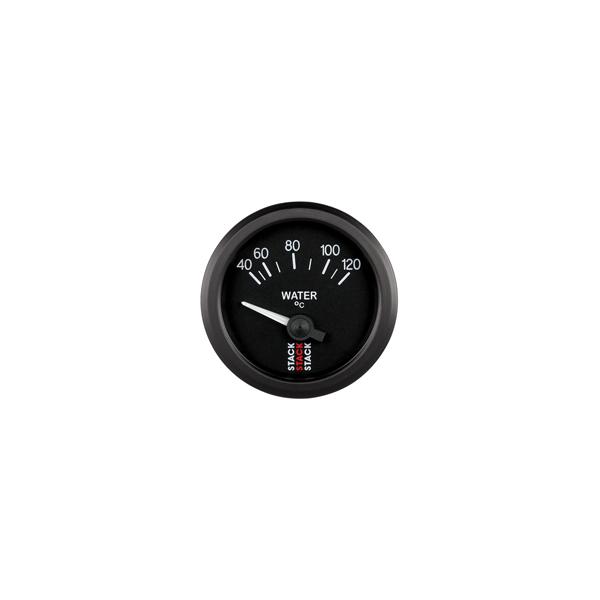STACK 52mm Electric Gauges BLACK Water Temperature 40-120°C (1/8NPT)