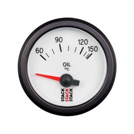STACK 52mm Electric Gauges WHITE Oil Temperature 60-150??C (1/8NPT)