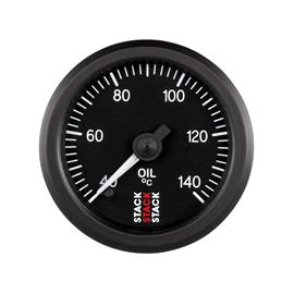 STACK 52mm Professional Stepper Motor Analogue Gauges BLACK Oil Temperature 40-140??C (1/8NPT)