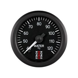 STACK 52mm Professional Stepper Motor Analogue Gauges BLACK Water Temperature 40-120??C (1/8NPT)