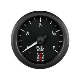 STACK 52mm Professional Stepper Motor Analogue Gauges BLACK Fuel Level (programmable)