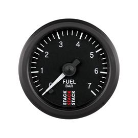 STACK 52mm Professional Stepper Motor Analogue Gauges BLACK Fuel Pressure 0-7 Bar (M10x1)