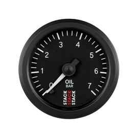 STACK 52mm Professional Stepper Motor Analogue Gauges BLACK Oil Pressure 0-7 bar (M10x1)