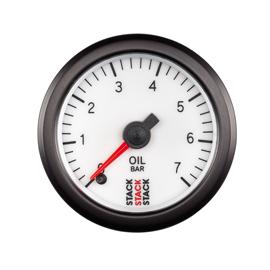 STACK 52mm Professional Stepper Motor Analogue Gauges Oil Pressure 0-7 Bar (M10x1)