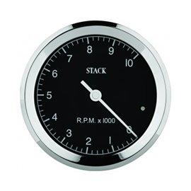 STACK Tachometer, Clubman Classic, 125mm, Black Dial, 0-8k RPM