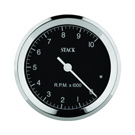 STACK Tachometer, Clubman Classic, 80mm, Black Dial, 0-8k RPM