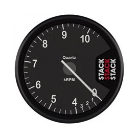 STACK Tachometer, Clubman, 80mm, Black Dial, 0-4-10.5k RPM