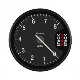 STACK Tachometer, Clubman, 80mm, Black Dial, 0-8k RPM