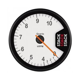 STACK Tachometer, Clubman, 80mm, White Dial, 0-4-10.5k RPM