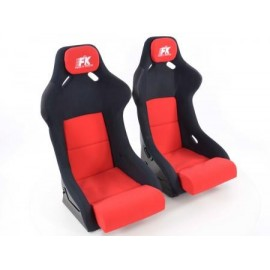 Sportseat Set Evolution fabric red /black