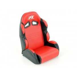 Child sports seat synthetic leather red/ black