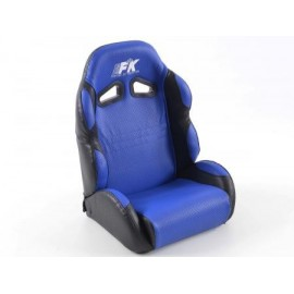 Child sports seat synthetic leather blue/ black