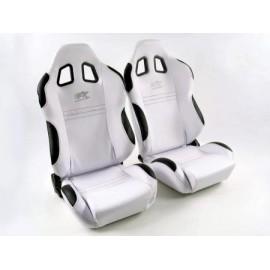 Sportseat Set New York fabric whiteblack seam black