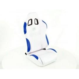Sportseat Set New York fabric white/blue seam blue