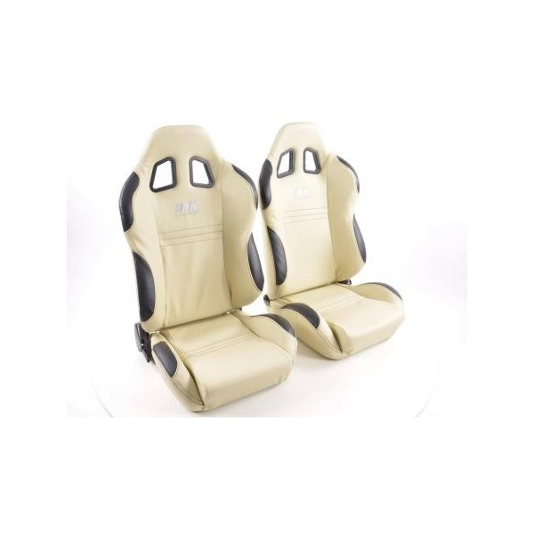 LAND ROVER DISCOVERY 1 1989-98 FRONT SEAT WATERPROOF SEAT COVERS SET IN BEIGE