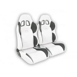 Sportseat Set Houston artificial leather whiteblack seam white