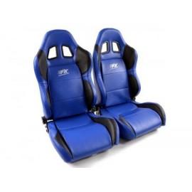 Sportseat Set Houston artificial leather blue/black seam blue