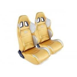 FK Sportseat Auto Half bucket seats Set Houston in Motorsport-look