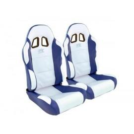 Sportseat Set Miami artificial leather white/blue