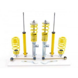 FK hardness adjustable coilover kit Seat Toledo 5P/5PN year 2004-2009 with 50 mm strut