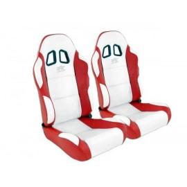 Sportseat Set Miami artificial leather white/red /