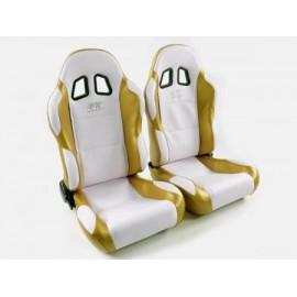 Sportseat Set Miami artificial leather white gold