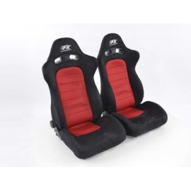 Sportseat Set Chicago fabric Red /black