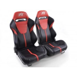 Sportseat Set Atlanta artificial leather black/red /