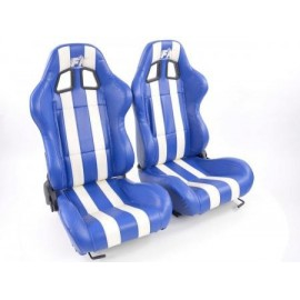 Sportseat Set Indianapolis artificial leather blue/white