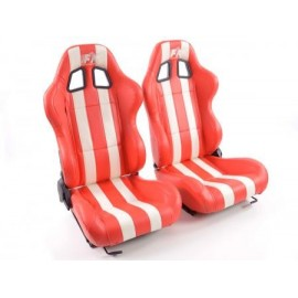 Sportseat Set Indianapolis artificial leather red //white