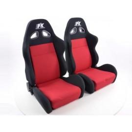 Sportseat Set Sport fabric black/red /