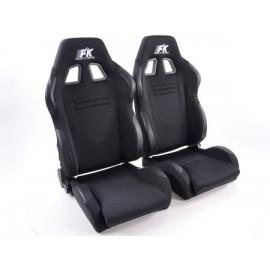 Sportseat Set Racecar fabric black