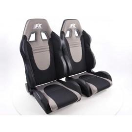 Sportseat Set Racecar fabric black/grey