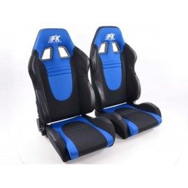 Sportseat Set Racecar fabric black/blue