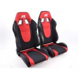Sportseat Set Racecar fabric black/red /