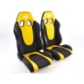 Sportseat Set Racecar fabric black/yellow
