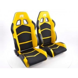 Sportseat Set Cyberstar fabric black/yellow