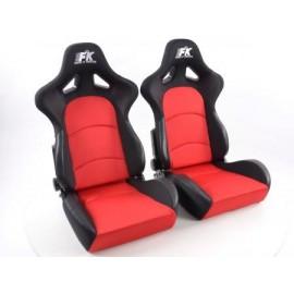Sportseat Set Control fabric red /black
