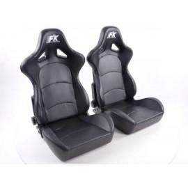 Sportseat Set Control artificial leather black