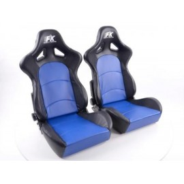 Sportseat Set Control artificial leather blue/black