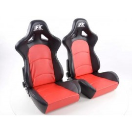 Sportseat Set Control artificial leather red /black