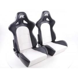 Sportseat Set Control artificial leather whiteblack