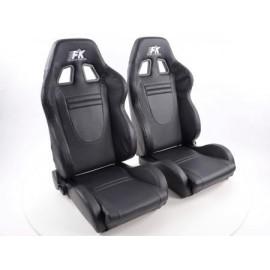 Sportseat Set Racecar artificial leather black