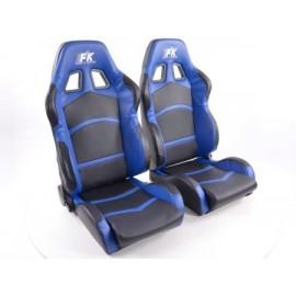 Sportseat Set Cyberstar artificial leather black/blue